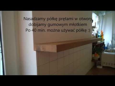 Montaż półki bez wsporników do pokoju kuchni biblioteki