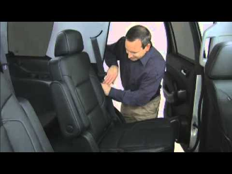 Chevy Tahoe Suburban 2nd 3rd row seats How to Use 2015 ...