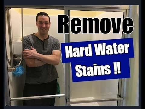 How To Remove Hard Water Stains From Glass Shower Doors | Clean With Confidence