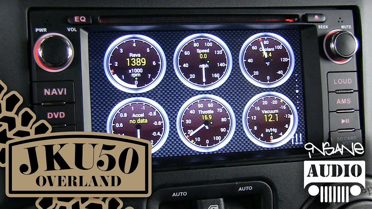 Insane Audio JK1001 Android Head Unit Overview | JKU50 Overland