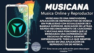 INCREÍBLE REPRODUCTOR DE MÚSICA ANDROID | MUSICANA MUSIC PLAYER