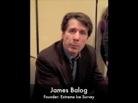 James Balog with a message for Dick Bass