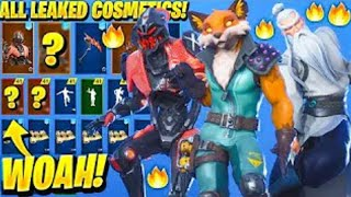 *NEW* ALL LEAKED SKINS & EMOTES..! *FOX SKIN* (Opressor, Very sneaky) | (Fortnite Battle Royale)