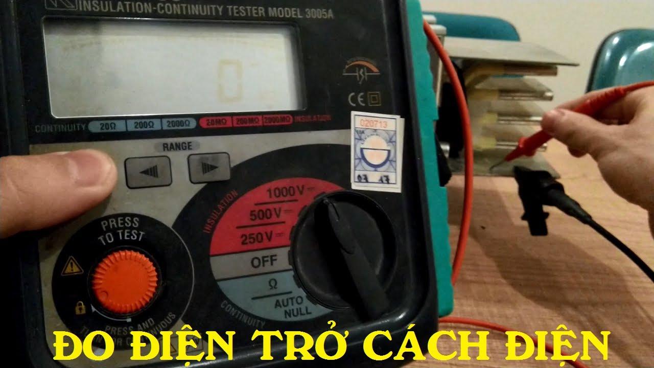 Cách đo điện trở cách điện bằng Megaohm || Đồng hồ Kyoritsu 3005A