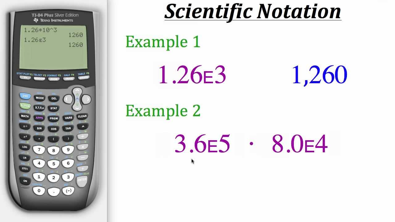 Ti calculator tutorial scientific notation youtube falaconquin