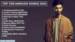 Top 10 Songs of Anirudh || 2020 || Tamil jukebox || Latest best songs of Anirudh