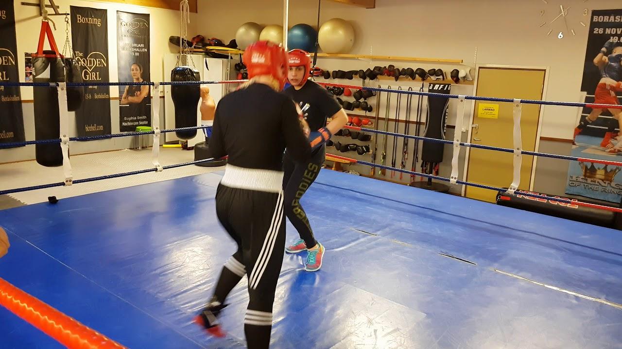 Michaela Lindfors ( Viktorija BK ) vs Mona Husac ( Skene - Team The Golden Girl ) Sparring
