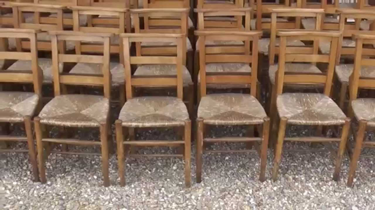 Original Batch of Reclaimed Antique Rush Seated Church & Chapel Chairs -  UKAA - YouTube - Original Batch Of Reclaimed Antique Rush Seated Church & Chapel