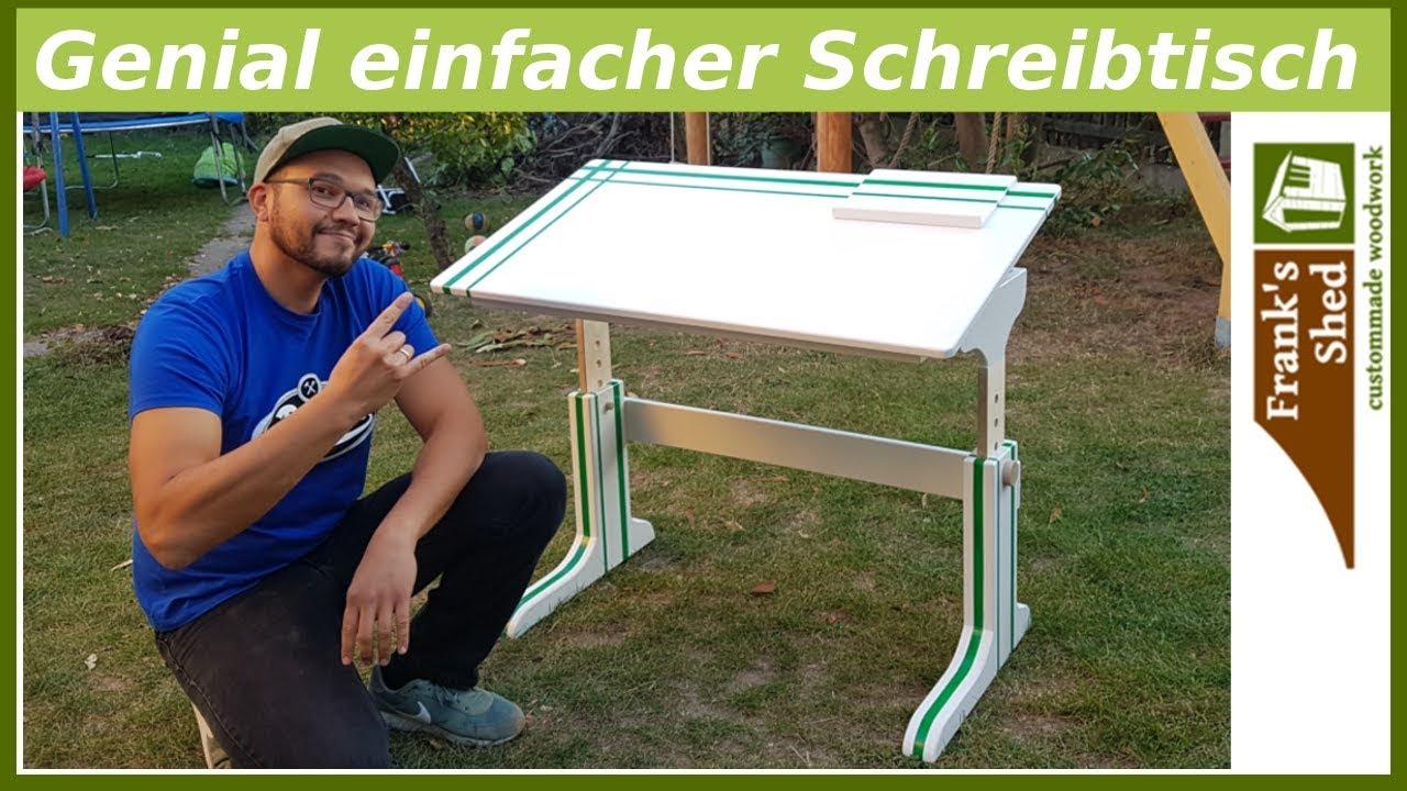 Schreibtisch Fur Die Schule Selber Bauen Diy Anleitung Franks