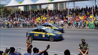 Desfile de Viaturas da PRF, PF, Escolta e Sistema Penitenciário em Brasília - 7 de Setembro de 2019