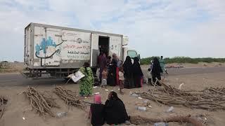 هيئة الهلال الأحمر الإماراتي تسير العيادات المتنقلة إلى منطقة الجريبة بالتحيتا