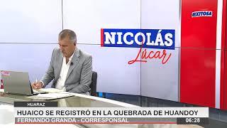 Huaraz | Huaico se registró en la quebrada de Huandoy