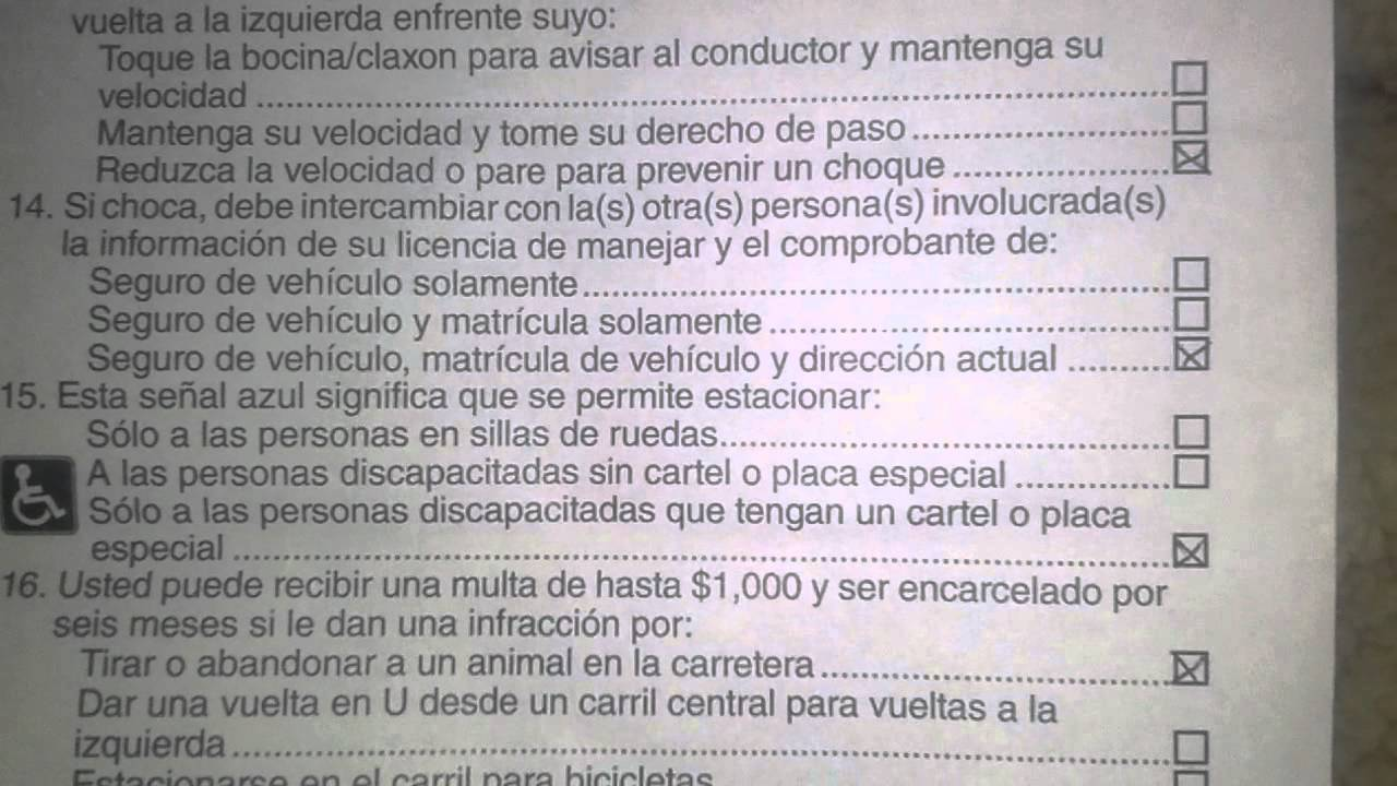 Examen del dmv en espanol newhairstylesformen2014 com