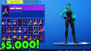 5 000 $ RARE Fortnite Locker Showcase! Locker Showcase w/ ALL RARE Skins! (Fortnite Battle Royale)