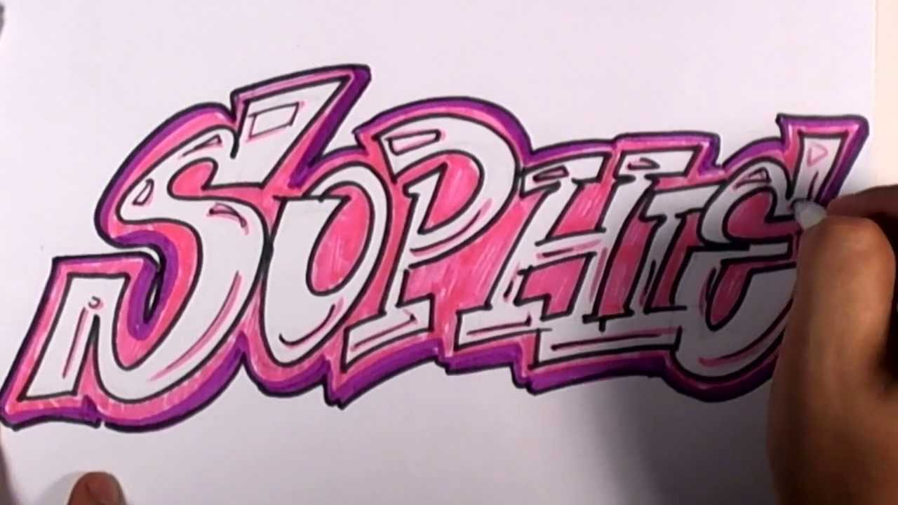 Graffiti Writing Sophie Name Design 23 In 50 Names Promotion Mat