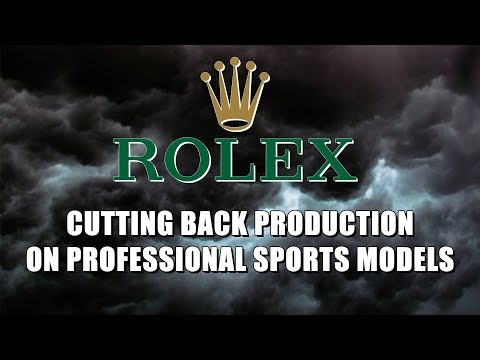 Rolex is Cutting Production on Professional Sports Models