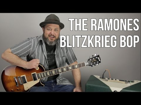 "How to Play ""Blitzkrieg Bop"" by The Ramones on Guitar"