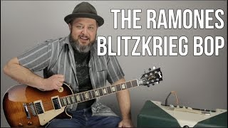 """How to Play """"Blitzkrieg Bop"""" by The Ramones on Guitar"""