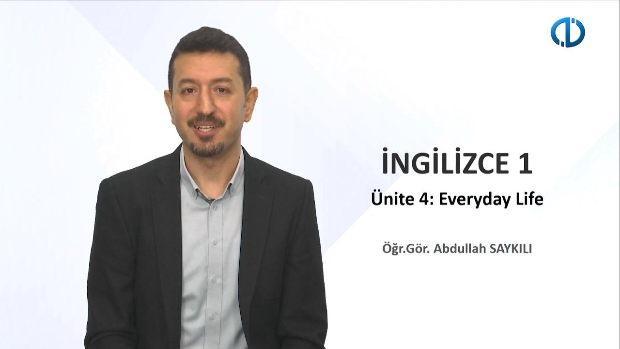 İNGİLİZCE I - Ünite 4 - 1Soru 1Cevap