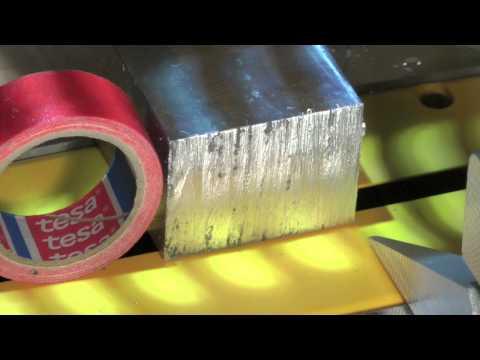 DeWalt DWS 780 cutting aluminum