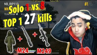 RIP113 Solo 1 vs 8 Event Mode l TOP 1 27 kills Impossible