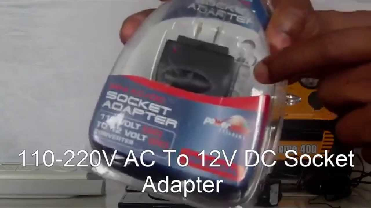 how to convert any 100 240v ac outlet into a 12v dc socket adapter youtube [ 1280 x 720 Pixel ]