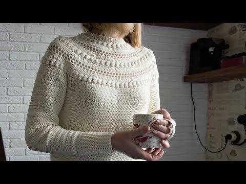 Молодежный свитер крючком схемы