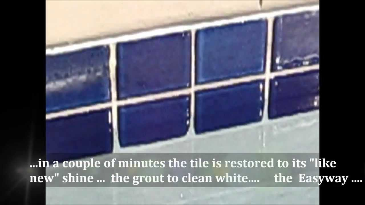 Easyway Tile Amp Grout Cleaner Mgm Pool Tile Demo Youtube