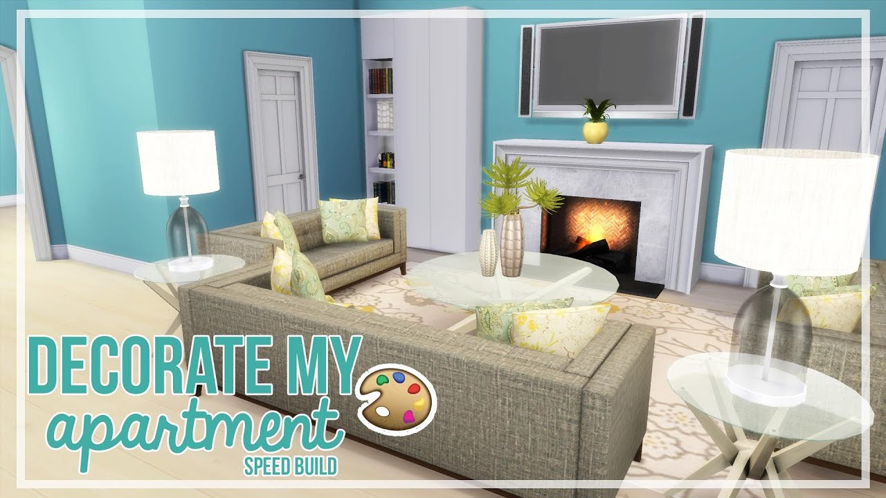 The Sims 4   Decorate My Apartment (#3) | Speed Build