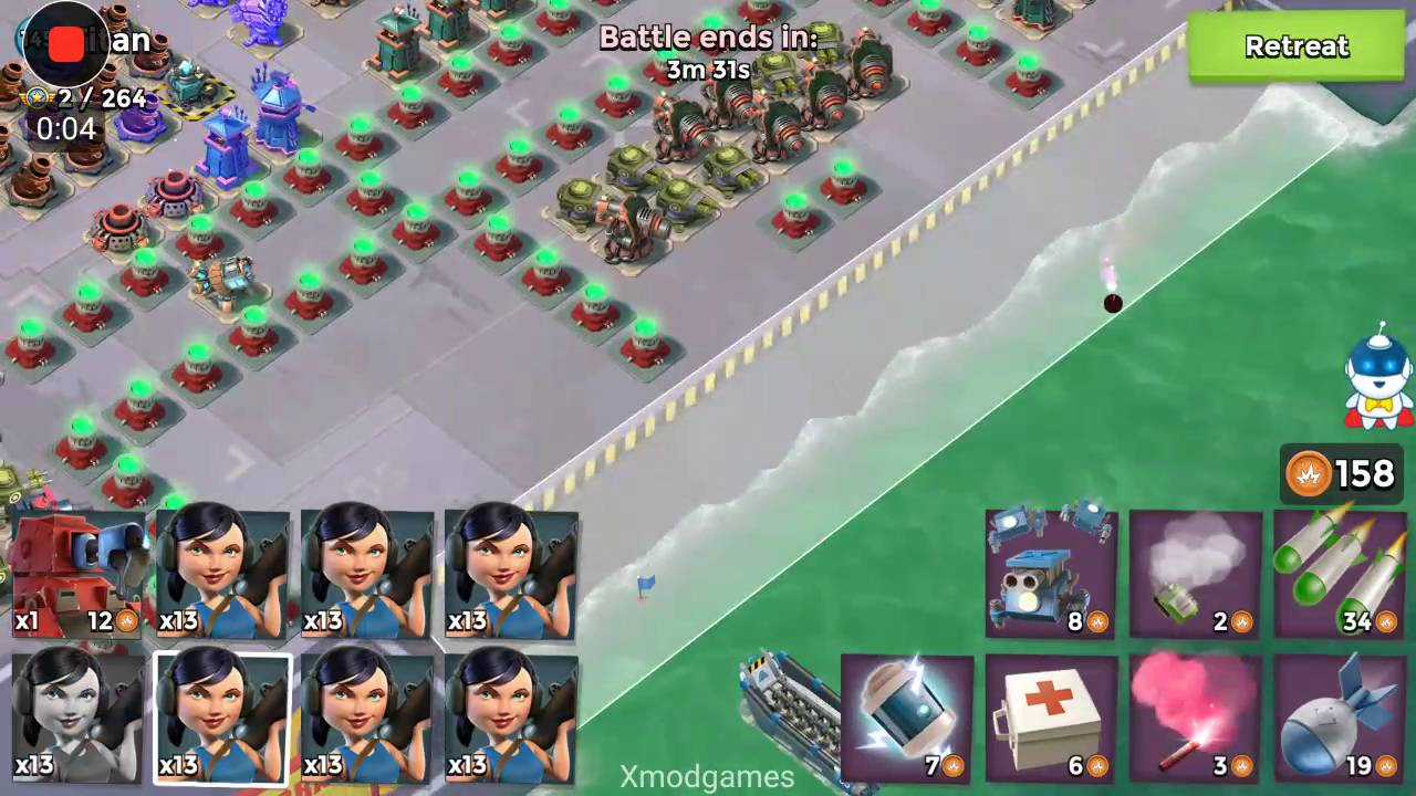 Boom Beach   Titan (lvl 145) Curtain Call