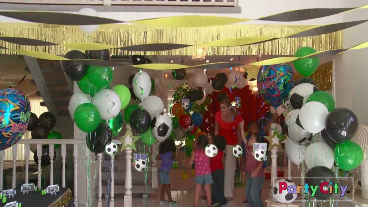 Soccer Theme Birthday Party Ideas From Party City Youtube