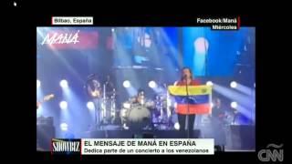 En pleno concierto, Maná saca bandera de Venezuela y ...