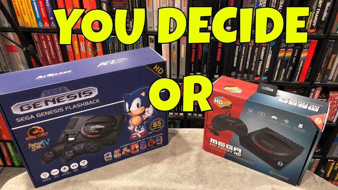 Sega Genesis Flashback 2018 VS Mega Retron HD