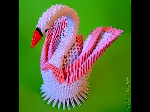 Модульное оригами. Лебедь. Мастер класс.