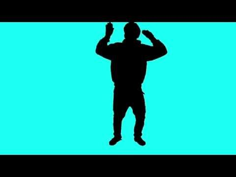 Green Screen Silhouette Boombox Breakdance HD - Footage PixelBoom