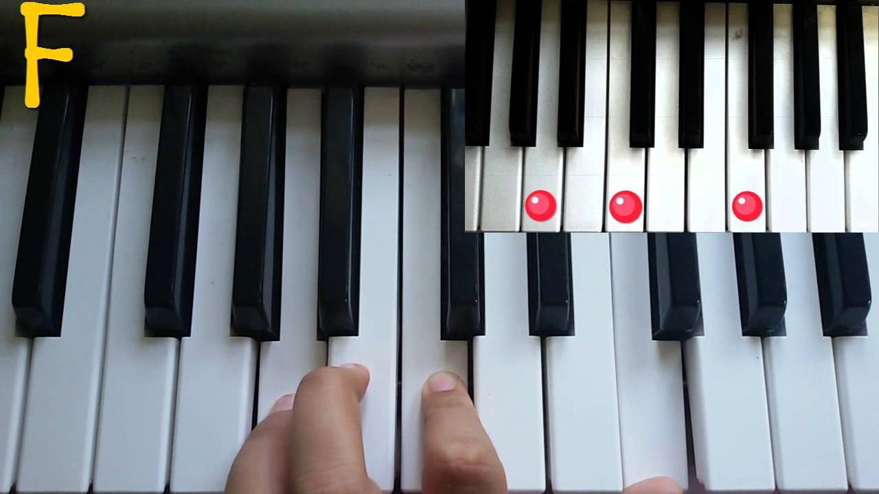 Chord piano tutorial c f g7 youtube hexwebz Image collections