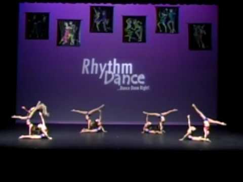 Acro Dance Gymnastics Compeion Group Performance Mini Wonders