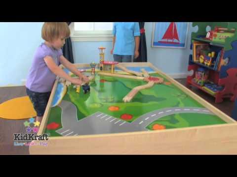 KidKraft Train Table Natural 17851 - YouTube