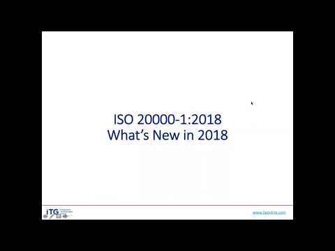 ISO 20000  What's New for 2018