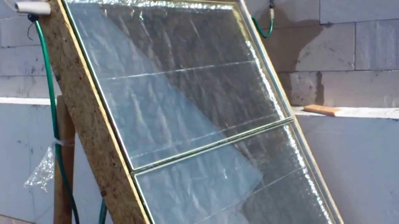Солнечный коллектор своими руками видео ютуб фото 492