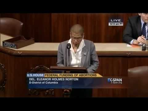 Norton speaks out against GOP anti-abortion bill that violates DC home rule