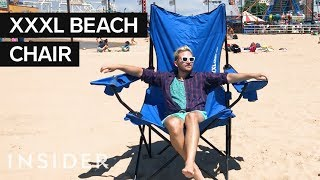 Super-Size Beach Chair Fits Up To 3 People