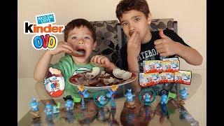 ABRINDO 10 KINDER OVOS do The Happos Family | Mostrando os brinquedinhos