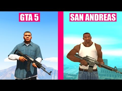GTA 5 vs GTA San Andreas Gun Sounds