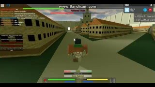 Attack on titan roblox with Fip (the dochbag)