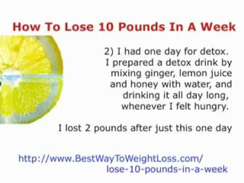 lose 10 pounds in a week  how to lose 10 pounds in a week