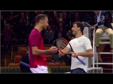 Grigor Dimitrov vs. Jerzy Janowicz 7-5, 7-6(5) Intrum Stockholm Open (R16) 19.10.2017.