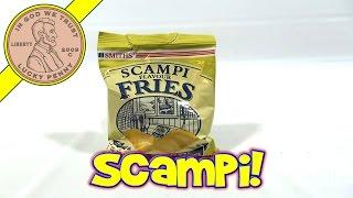Smith's Scampi Flavour Fries - Cereal Snack Scampi & Lemon Flavor - Uk Snack Tasting