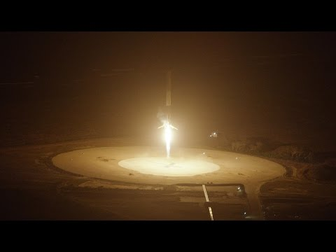 Falcon 9 First Stage Landing | From Helicopter