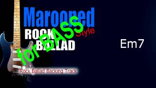 Marooned Rock Ballad BASS Backing Track 73 Bpm Highest Quality